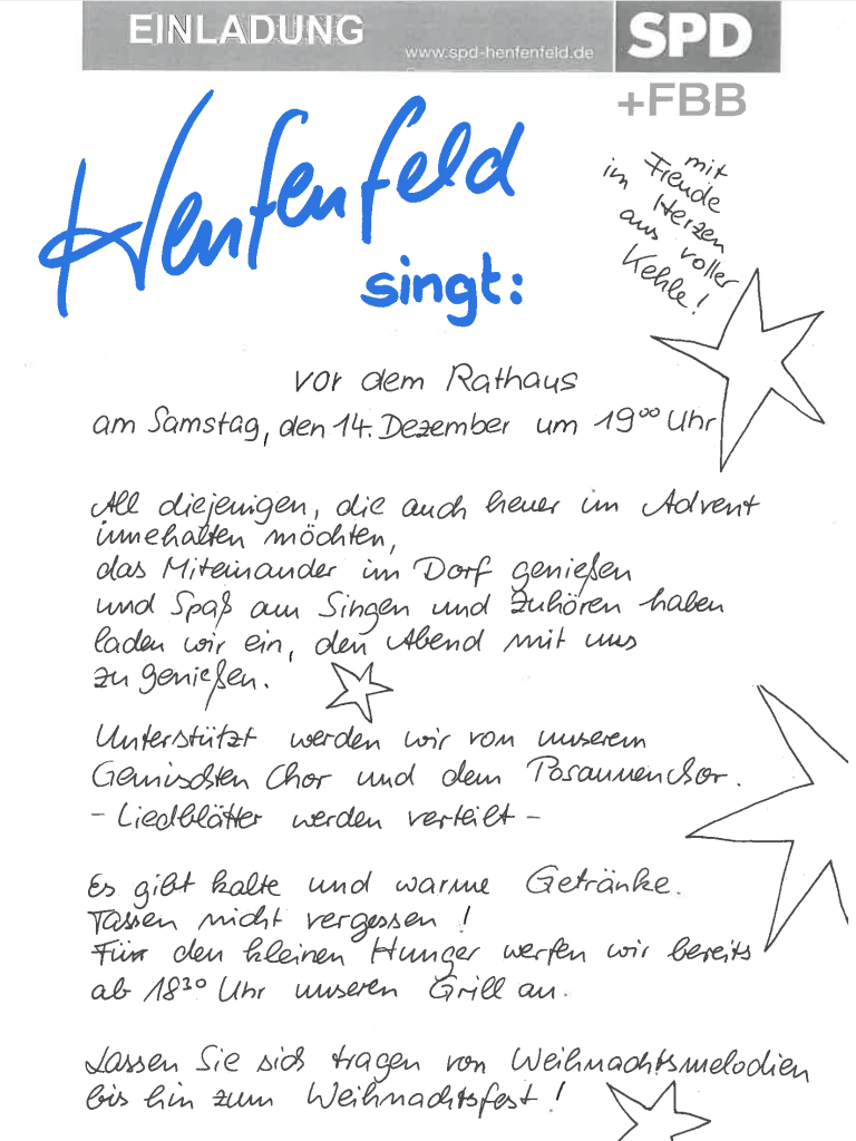 Henfenfeld singt